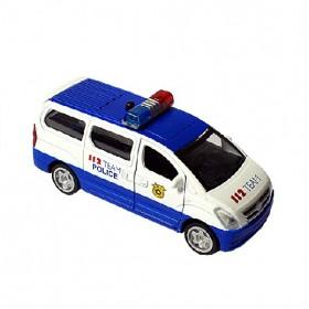 Felhúzható fém rendőrkocsi fénnyel és hanggal – x