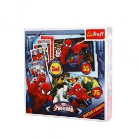 Pókember 3 az 1-ben puzzle és kártyajáték – Trefl – x
