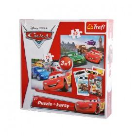 Verdák – 3 az 1-ben puzzle és kártya – Trefl – x