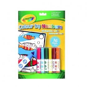 Crayola – 16 lapos szám szerinti  kifestő – x