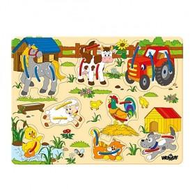 Fűzhető fa puzzle – farm állatokkal – x